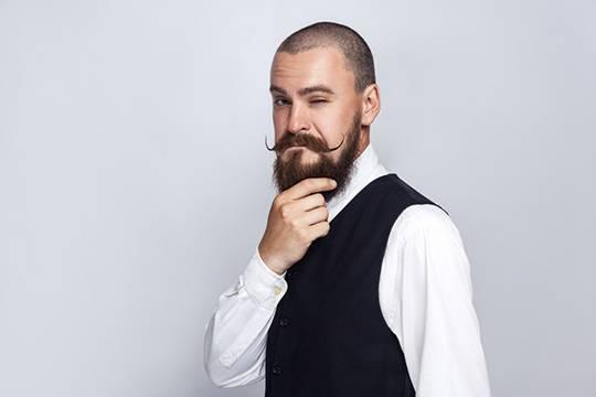 борода с усами