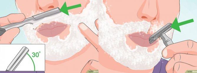 бритье обычной и опасной бритвой