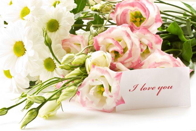 Цветы и конфеты - беспроигрышный вариант. Фото с сайта lisimnik.ru