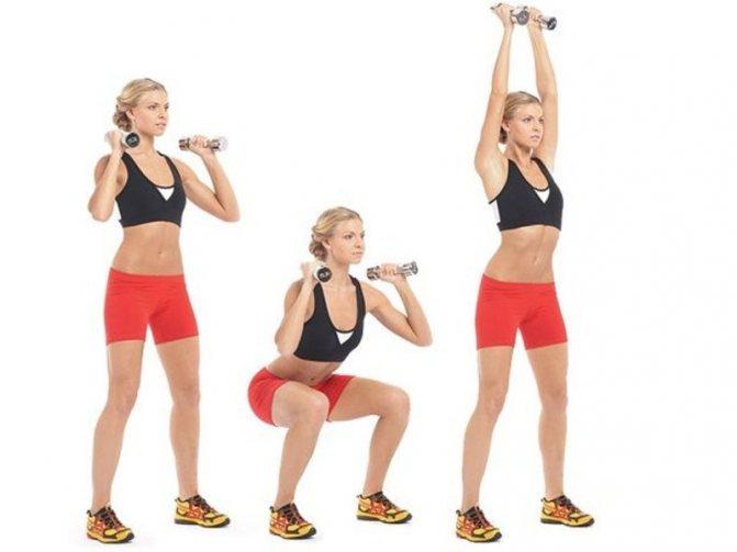 Физические упражнения с гантелями