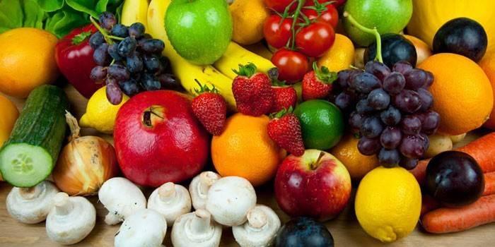 Фрукты, овощи и грибы