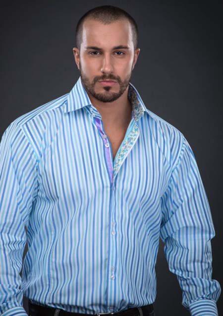 голубая рубашка 2020 для полного мужчины фото