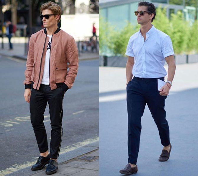 Как стильно носить лоферы под чинос: модные луки 2018