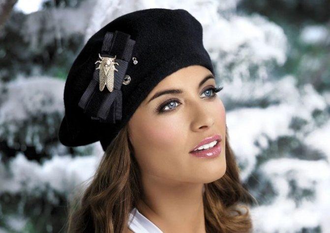 какие шапки в моде зима 2019