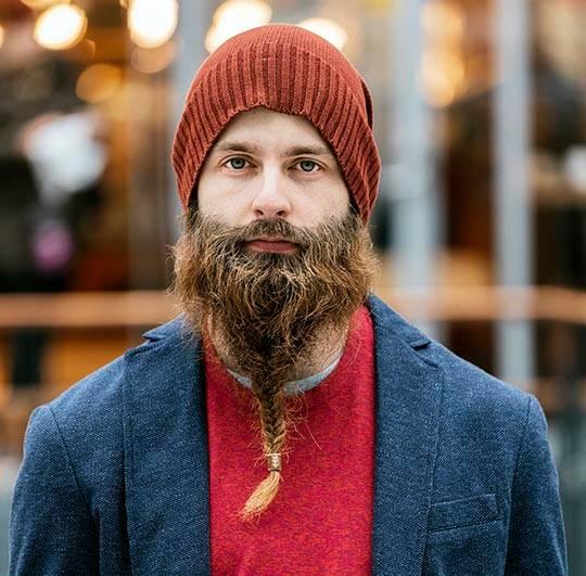 Коса на бороде