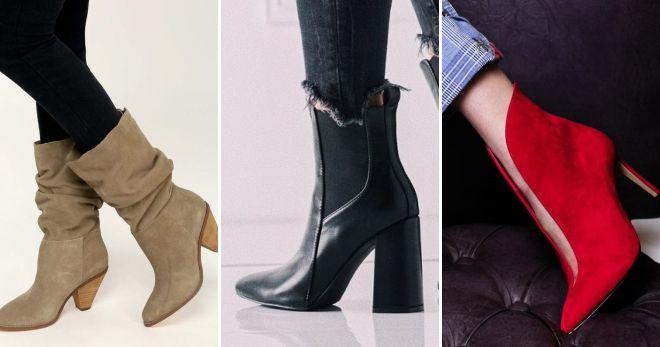Кожаная обувь осень-зима 2019-2020 мода
