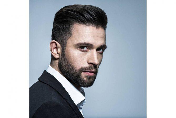 круглое лицо и голливудская борода