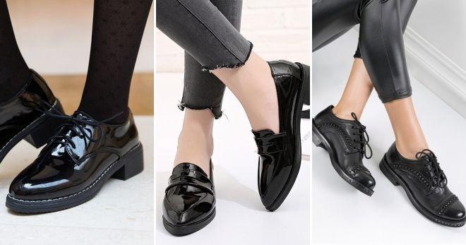 Лакированная обувь осень-зима 2019-2020 мода