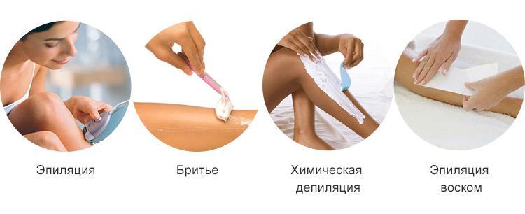 методы удаления волос дома