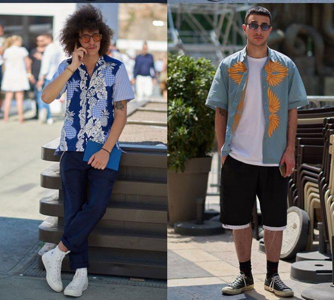 Модные мужские рубашки с принтом весна 2020 фото