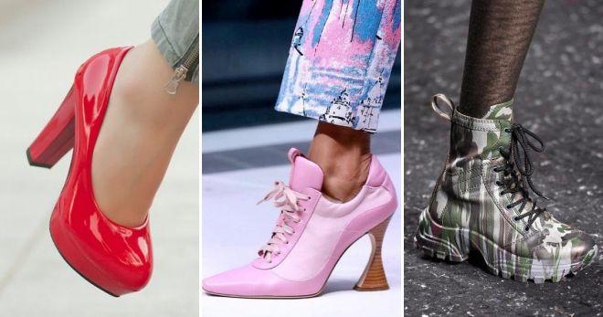 Модные тенденции обуви осень-зима 2019-2020 мода