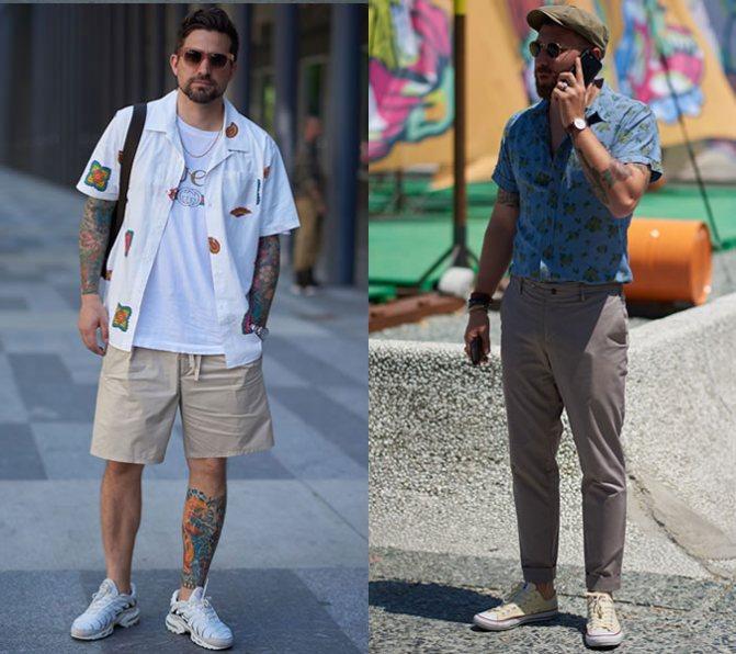 Мужчины в стильных рубашках: уличная мода 2020 лето