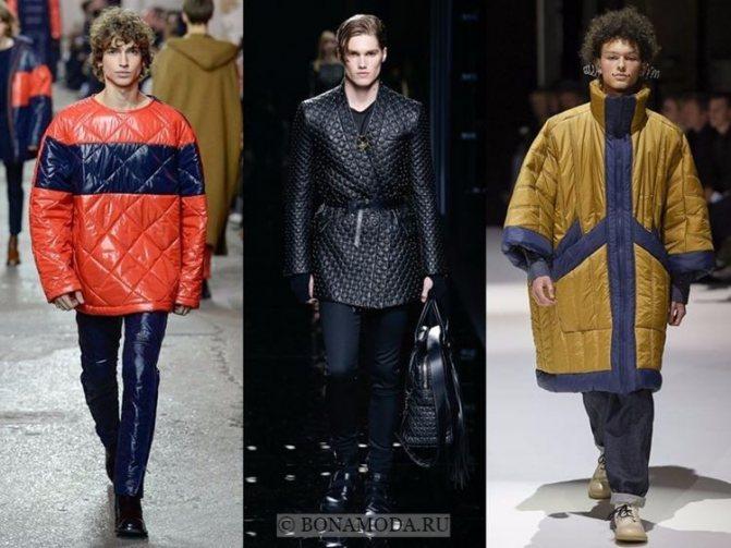 Мужская мода осень-зима 2017-2018: стеганые пальто и куртки