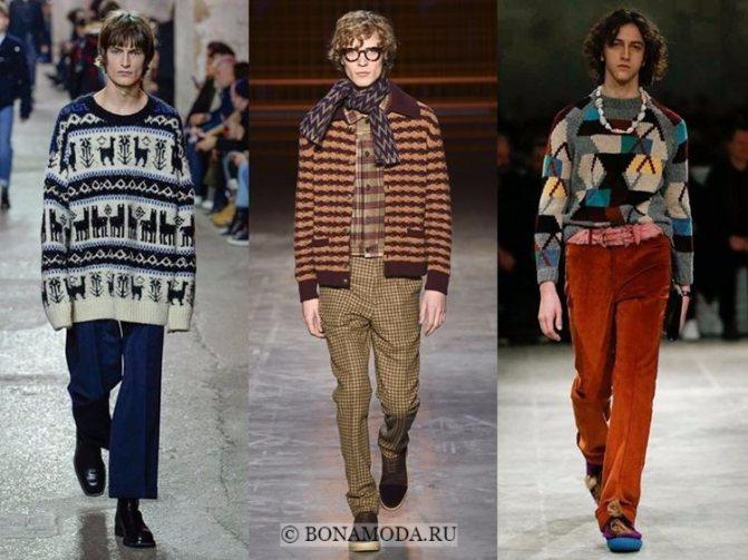 Мужская мода осень-зима 2017-2018: свитера и кофты с принтами