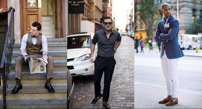 мужские лоферы с чем носить