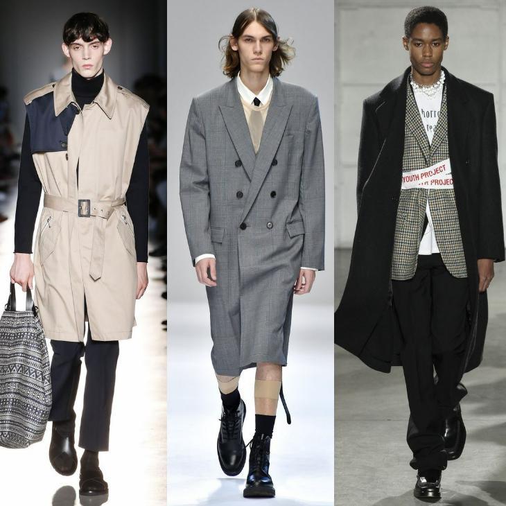 мужские образы с пальто