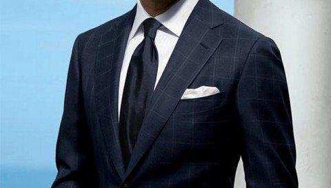 Мужской деловой костюм синего цвета