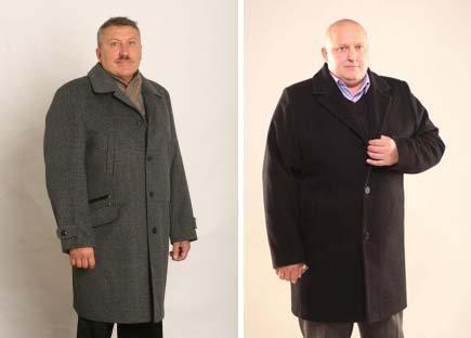 пальто для полных мужчин фото