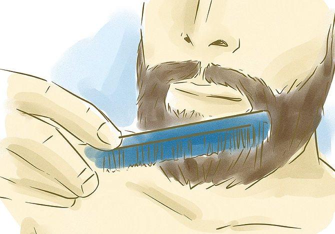 расчесывание бороды