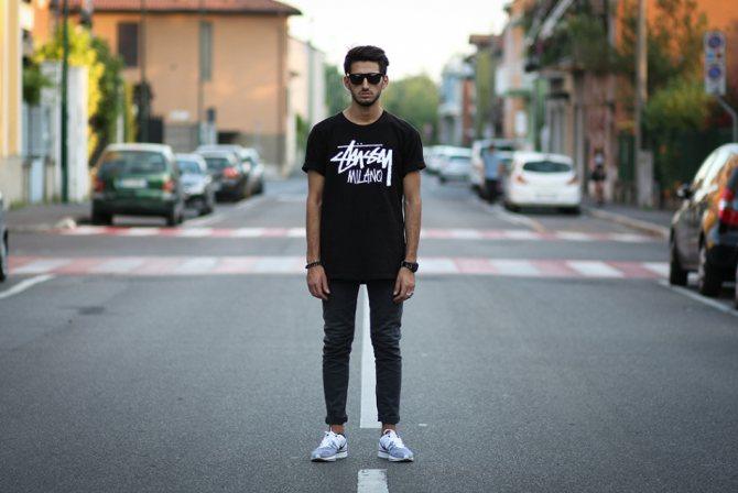 С чем носить черные джинсы мужские?