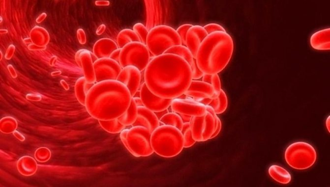 Сгусток в системе кровотока