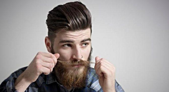 Стрижка андеркат для мужчины с бородой