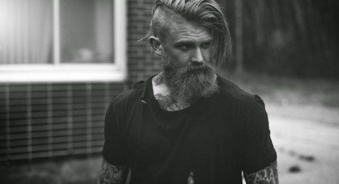 Стрижка Топ Кнот с бородой