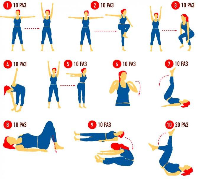 Утренняя зарядка – комплекс упражнений