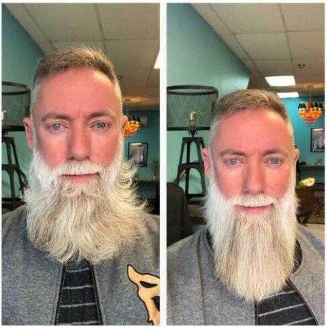 Выпрямление бороды с помощью химии