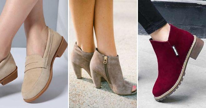 Замшевая обувь осень-зима 2019-2020 идеи