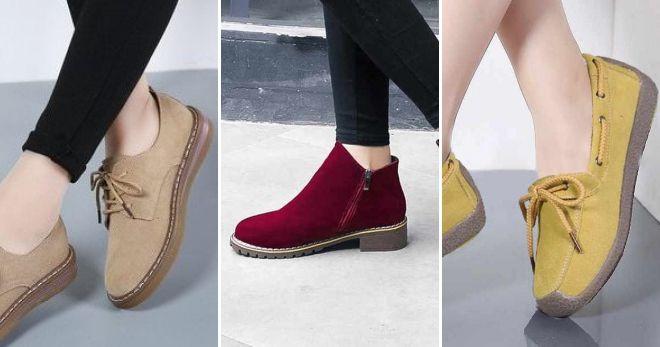 Замшевая обувь осень-зима 2019-2020 стиль