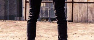 зауженные черные мужские джинсы фото